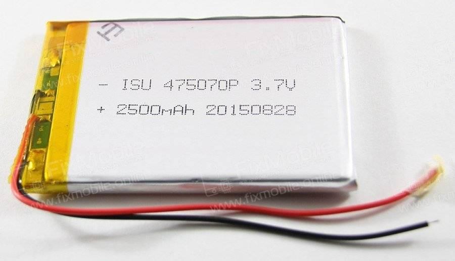 Аккумуляторная батарея универсальная 475070p 3,7v 2500 mAh 4.7*50*70 мм