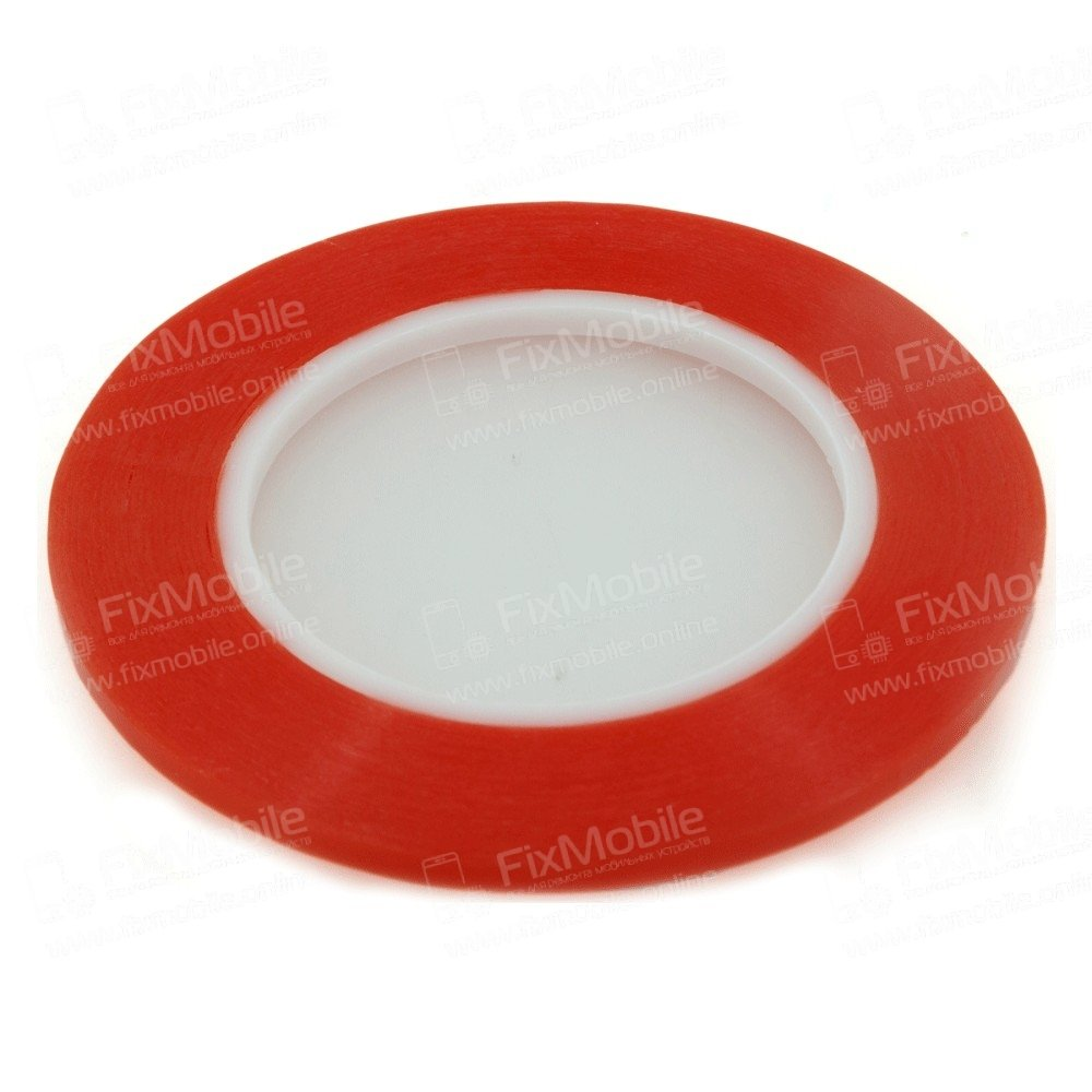 Скотч двусторонний (красный) 5 мм