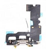Шлейф для Apple iPhone 7 на разъем зарядки/микрофон (черный)