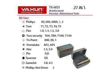 Отвертка с насадками YX6031 31 в 1 — 2